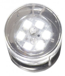 *DB-LED (CW) uitlopend! Integrated 12V/0.5W LED Rond 22mm   OP=OP