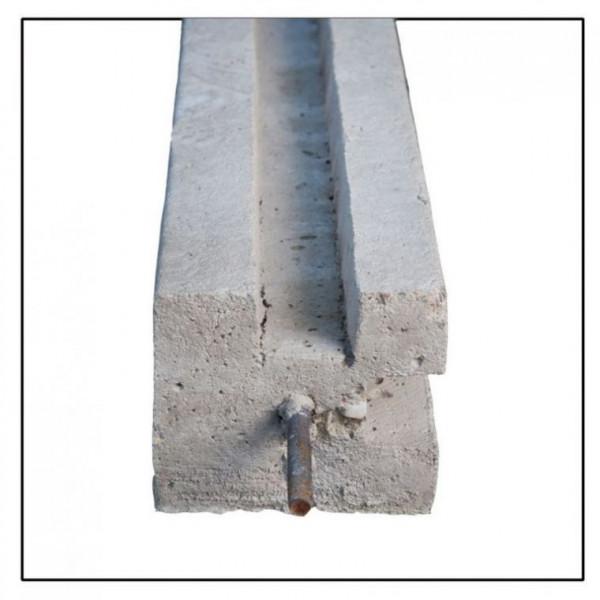 *Betonpaal Hoekpaal met pin Grijs 12x12x200+60cm