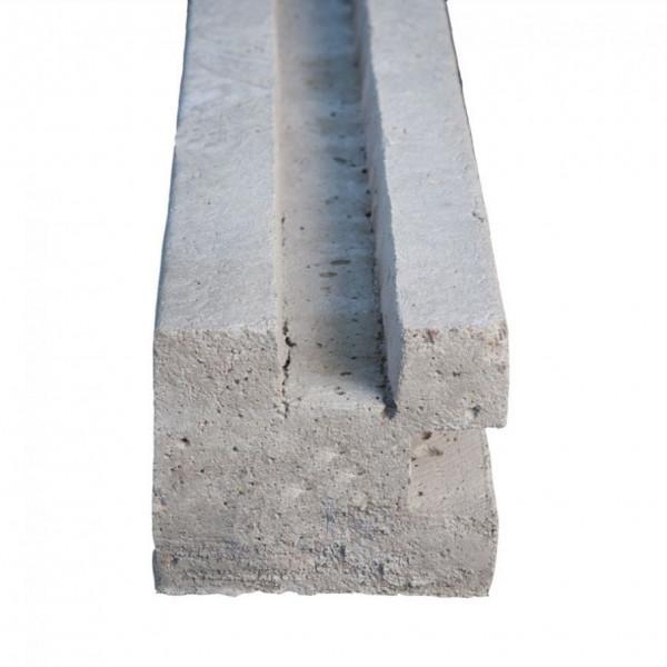 *Betonpaal Hoekpaal zonder pin Grijs 12x12x133+60cm