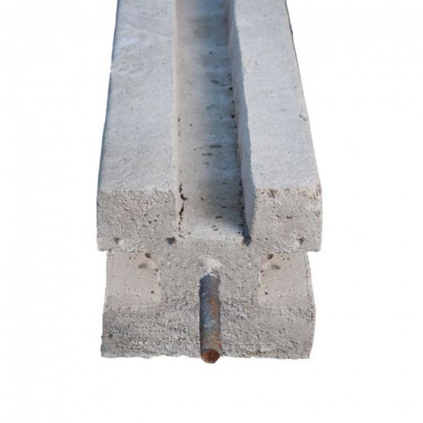 Betonpaal Driesponner met pin Antraciet 12x12x200+60cm