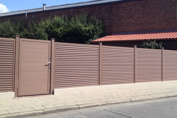 Dual Straight WPC Tand&groef POORT incl. slot Black 100x180cm