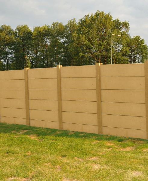 *Betonpaal Hoekpaal zonder pin Grijs 12x12x166+60cm