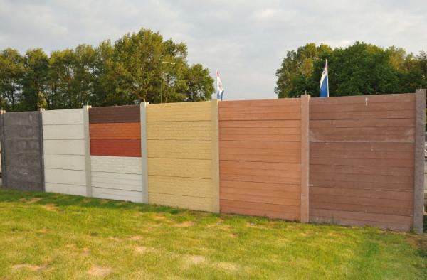 Betonplaat houtmotief donker bruin 180x33.3x3.3cm