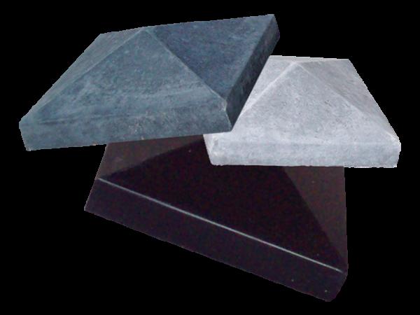 Afdekmuts 118x118cm Zwart beton