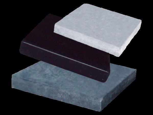 Afdekmuts 24x24cm Zwart beton