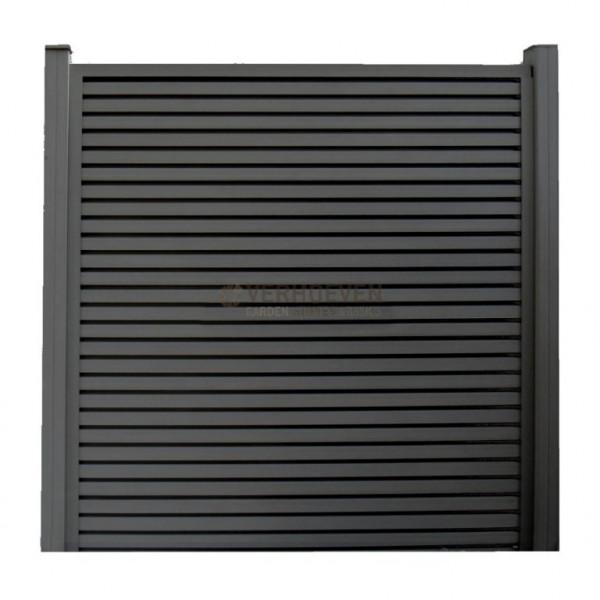 Dual Straight WPC paalkap Design 90mm. x 90mm.  t.b.v. paal 90x90mm Black