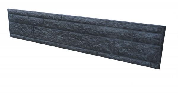 *Betonplaat Rotsmotief dubbelzijdig Antraciet 184x36x4.8cm