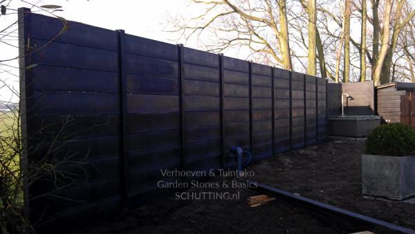 Betonplaat dubbelzijdig Glad Antraciet 184x36x3.4cm