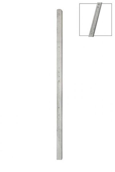 *Betonpaal t.b.v. 3 platen - toog of recht U3P Grijs 10x10x315cm met ronde kop